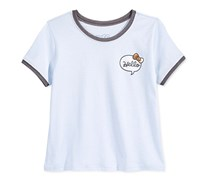 Hello Kitty Graphic T-Shirt Big Girls, Ice Blue/Charcoal