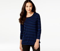 G.h. Bass Co. Striped Pullover Top, Indigo Combo