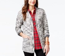 G.H. Bass Co. Marled Open-Front Cardigan, Ivory