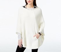 G.H. Bass Co. Hooded Sweater Poncho, Ivory