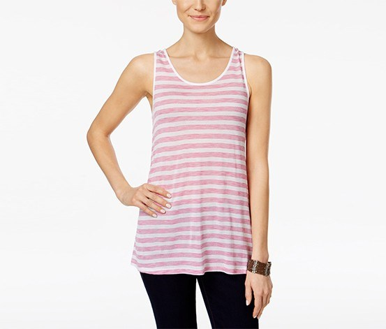 Striped Tank Top, Passion Combo