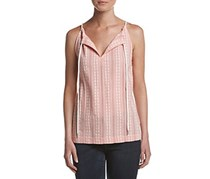 G.H. Bass & Co. Embroidered Tank, Pink