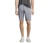 Theory Beck Clean Stripe Trouser Shorts, Light Gray