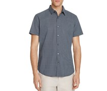 Theory Zack Trace Print Slim Fit Button-Down Shirt, Eclipse