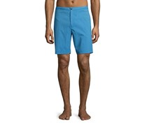 Theory Alesso Cube-Print Swim Trunks, Bright Sky Combo