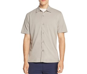 Theory Air Pique Pull-Through Slim Fit Polo Shirt, Winter Sky