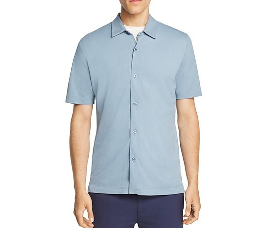 Air Pique Pull-Through Slim Fit Shirt, Open Sky