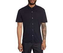 Theory Linen Men's Knit Sport Shirt, Navy
