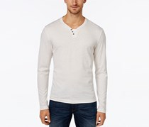 Men's Leo Heather Long-Sleeve Shirt, Heather Vanilla