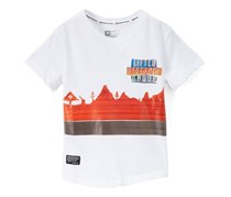 LRG Motherland Striped Tee, White