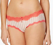 Heidi by Heidi Klum Mesh and Lace Striped Hipster, Paradise Pink Multi