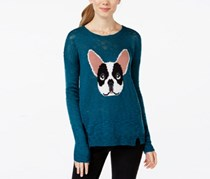 Hippie Rose Juniors French Bulldog Pullover, Russian