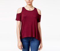 Hippie Rose Juniors Cold-Shoulder Top, Rococco Red