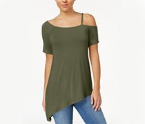 Hippie Rose Junior's One-Shoulder Top, Pioneer Olive