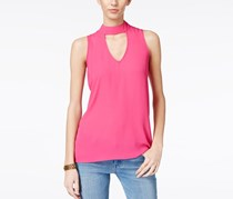 Hippie Rose Juniors Keyhole Top, ChaCha Pink