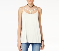 Hippie Rose Juniors' Strappy Tank Top, Ivory