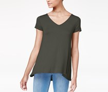 Hippie Rose Juniors' Strappy-Back T-Shirt, Elegant Moss