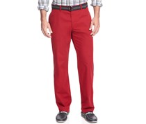 Haggar Straight Fit Heritage Poplin Casual Pant, Red