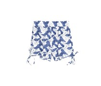 Maze Women's Leaf Print Side Tie Short, Blue/White