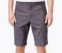 Men's Outfitter Flat-Front Active Shorts, Black Cross Hatch