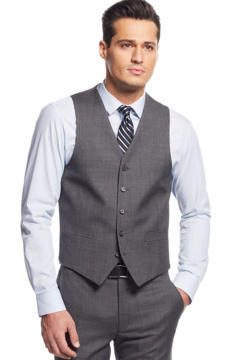 Mens Sharkskin Vest, Grey