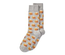 Hot Sox Men's Food-Themed Patterned Dress Socks, Waffles