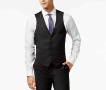 Bar III Charcoal Solid Extra Slim-Fit Vest, Charcoal