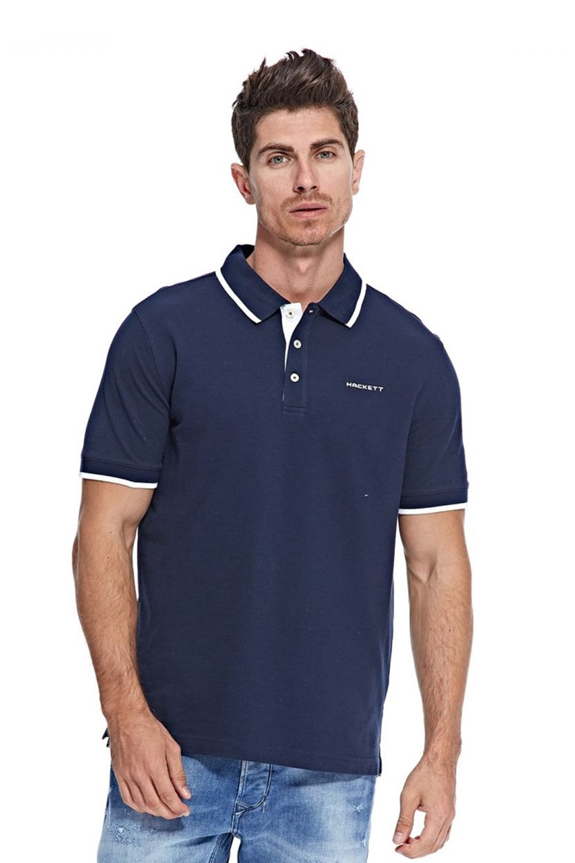 Men's Cotton Pique Polo, Atlantic