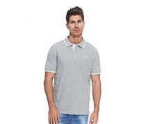Hackett Men's Cotton Pique Polo, Metal Heather