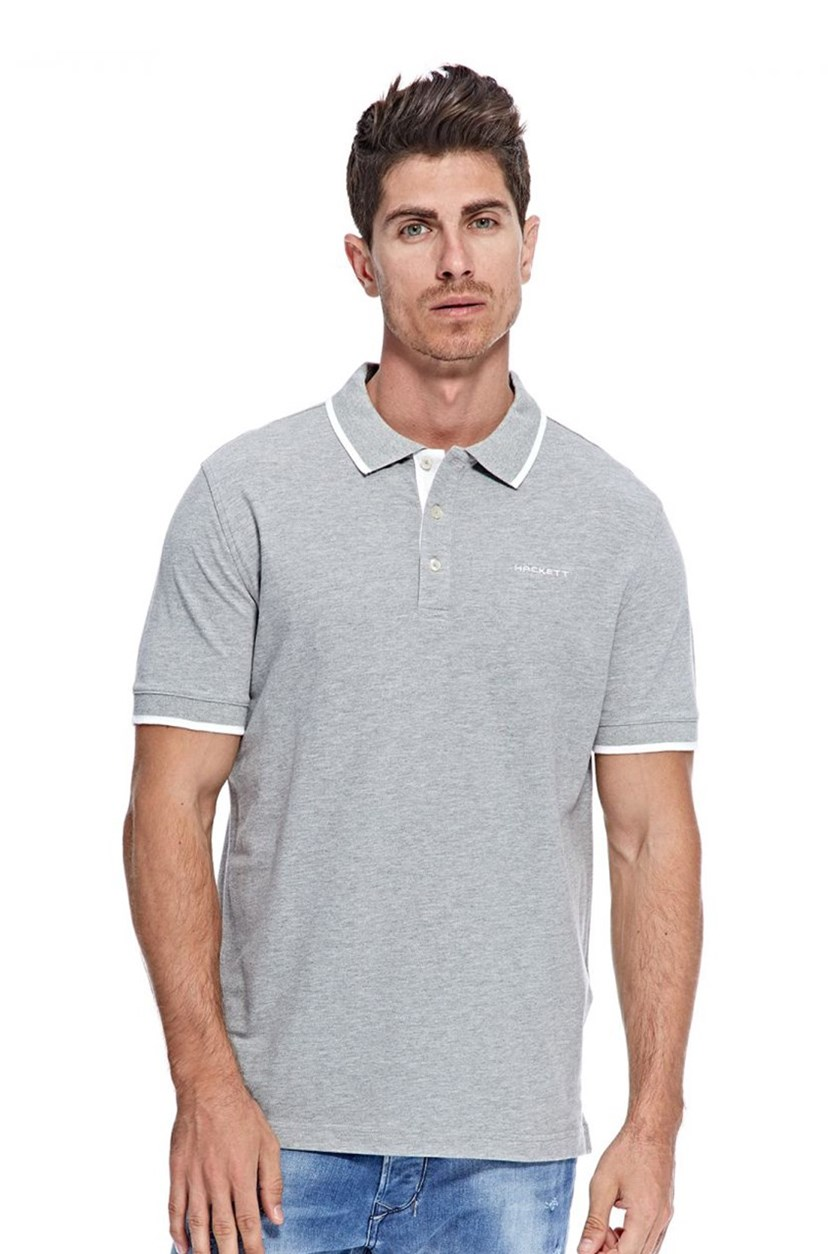 Men's Cotton Pique Polo, Metal Heather