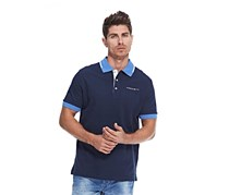 Hackett Men's Cotton Pique Polo, Atlantic/Yonder