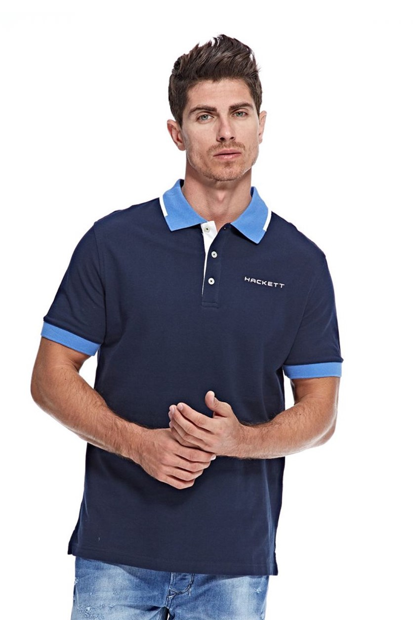 Men's Cotton Pique Polo, Atlantic/Yonder