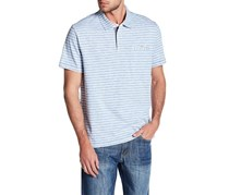 Flag & Anthem Men's Bridgewater Striped Polo, Light Blue