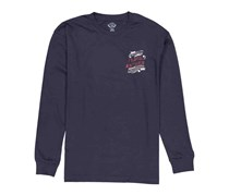 Flag & Anthem Men's Country Music Festival Long Sleeve Crew Neck Top, Navy