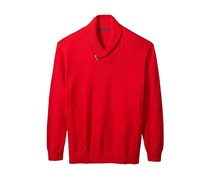 Sean John Mens Toggle Shawl Collar Sweater, True Red