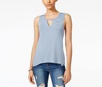 Rebellious One Juniors' Charm Tank Top, Dusty Denim