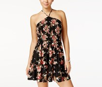 B Darlin Strappy-Back Fit & Flare Dress, Black Rose
