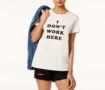 Ban. do Cotton I Don't Work Here Graphic T-Shirt, Cream
