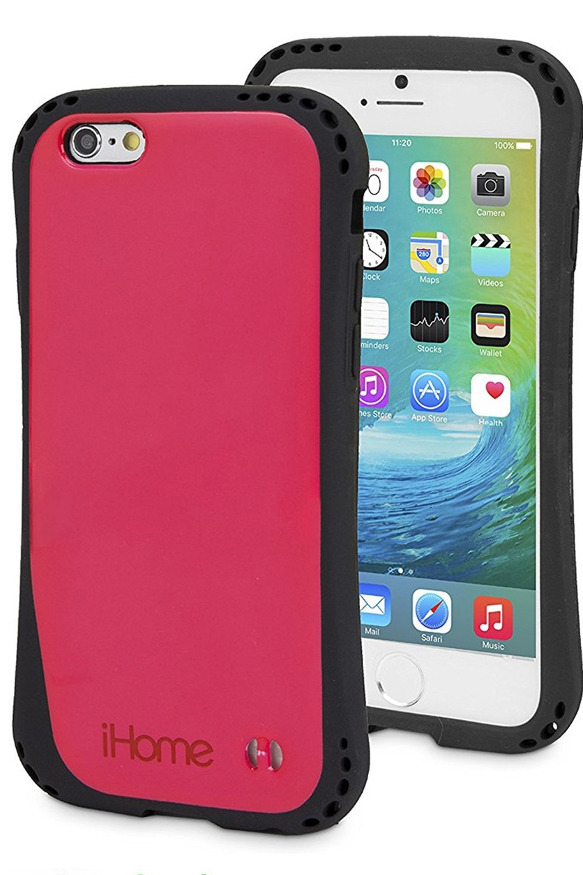 Shop iHome iHome O2 Shield case for iPhone 6/6s, Dark Pink