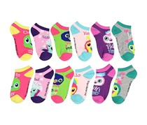 Girls Hatchimals 6 Pack Low Cut Socks, Pink Combo