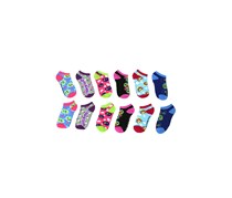 Girls Hatchimals 6 Pack Low Cut Socks, Purple Combo
