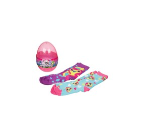 Hatchimals Eggs Crew Socks Cool Funky Over the Calf Novelty 2 Pairs, Purple Penguala