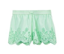 Imperial Star Big Girl's Eyelet Shorts, Mint