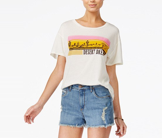 Junk Food Cotton Desert-Graphic T-Shirt, Tusk