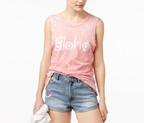 Junk Food Cotton Aloha Graphic Tank Top, Fade Rose