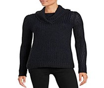 Dkny Jeans Yarn Mix Turtleneck,Dark Mood Indigo