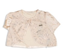 Guess Kids Girls Short-sleeves Sequin Shrug, Cream