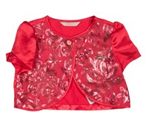 Guess Kids Girls Short-sleeves Sequin Shrug, Red