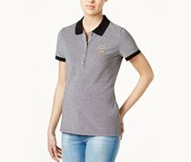 Tommy Hilfiger Cotton Polo Top, Grey