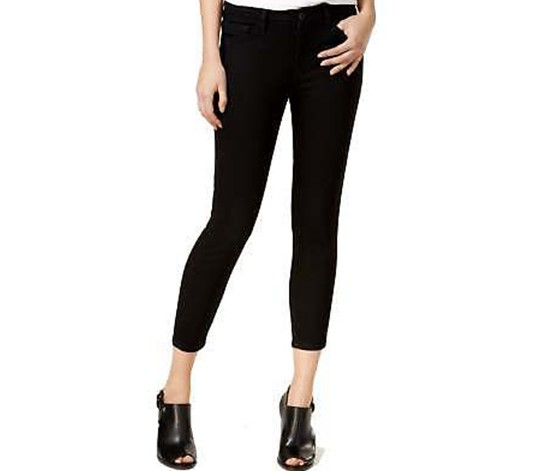 Women's Greenwich Cropped Skinny Jeans, Black